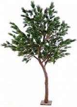 Stort kunstigt fyrretræ H260 cm