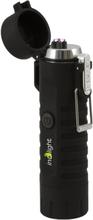 Inolight cl8 water proof usb dual arc lighter, led flashlight, i