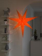 Konstsmide Pappersstjärna Orange Hängande 2907-185