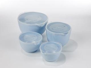 Rosti Mepal Set med 4 st blåa Margretheskålar
