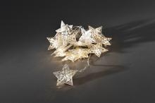 Konstsmide Ljusslinga Stjärnor Silver LED 3152-203