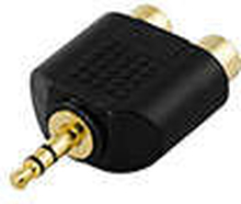 Adapter 2 x RCA hona till 3.5mm hane
