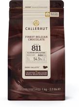 Callebaut Chokolade mørk (811), 1 kg - (54,5%)
