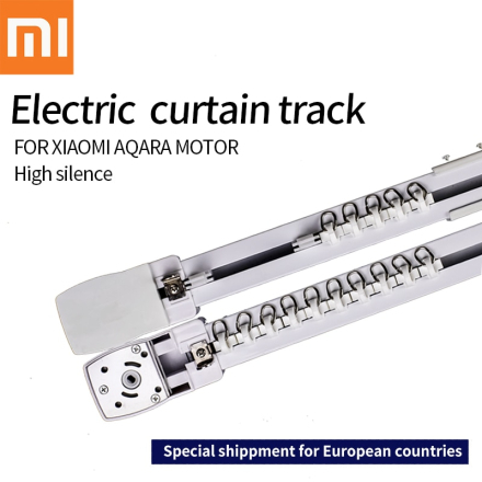 Original Xiaomi aqara motor Customizable Super Quite Electric Curtain Track for smart home for EU main country