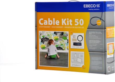 Ebeco Golvvärme Cable Kit 50 (200W) 18.5 m, 1.9 - 2.7 m²