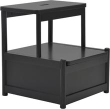 Fame Pall/Sängbord med förvaring - Svart