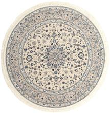 Nain Emilia - Beige / Blå matta Ø 200 Orientalisk, Rund Matta