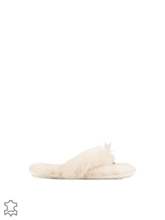 UGG W Fluffy Flip Flop II Natural