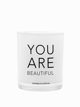 Duftlys - White Damselfly Candles You Are Beautiful