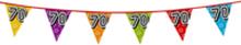 Holografische vlaggenlijn 8 m met het cijfer 70
