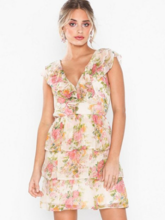 NLY Eve Sheer Frill Dress Loose fit