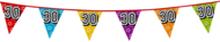 Holografische vlaggenlijn 8 m met het cijfer 30