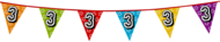 Holografische vlaggenlijn 8 m met het cijfer 3