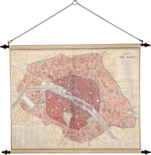 Väggdekoration - Paris old map
