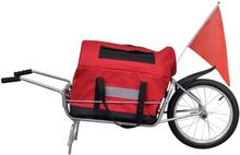 Vidaxl cykelvagn enhjuling inkl. väska