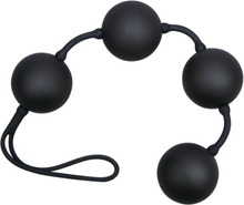 Black love string with 4 balls