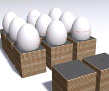 Eicube äggkoppar, 4 pack (Multi)