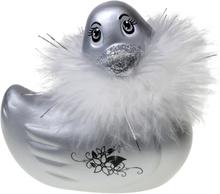 I Rub My Duckie Paris - Vattentät Badanka med Vibrator med Fjäderboa