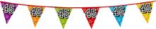 Holografische vlaggenlijn 8 m met het cijfer 45