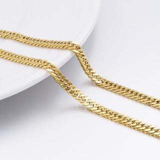 Pansarlänk i rostfritt stål med 18K Guldplätering 3 mm -i flera längder
