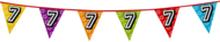 Holografische vlaggenlijn 8 m met het cijfer 7