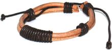 Läderarmband Mark brunt