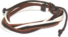 Läderarmband Brian brunvitt