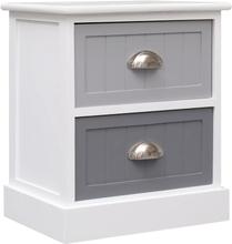 vidaXL Sängbord grå 38x28x45 cm paulownia