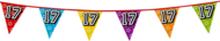 Holografische vlaggenlijn 8 m met het cijfer 17