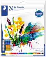 Akrylfärger 12ml - 24 färger
