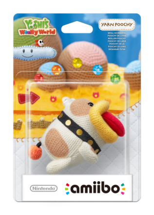 Nintendo Amiibo Figurine Poochy (Yoshi's Woolly World) /Toys for games