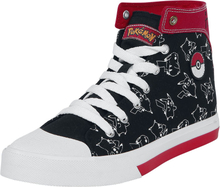 Pokémon - Pikachu - Höga sneakers - svart röd