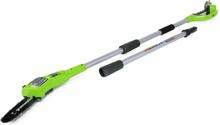 Greenworks grensavssæt med 24 V 2 Ah-batteri G24PS20 20 cm 2000107UA