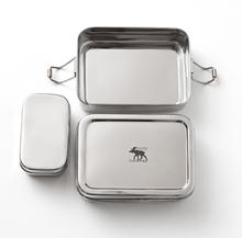 Pulito 3 i 1 madkasse i rustfrit stål - Medium