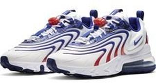 Nike Sneaker Air Max 270 React ENG - Hvit/Blå/Rød