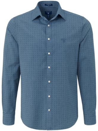 Jeans-skjorte kent-flip Fra GANT blå - Peter Hahn