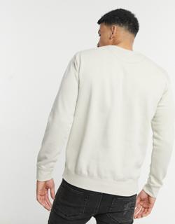 Selected Homme sweatshirt with homme logo in beige