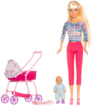Defa Lucy - Fashion Doll - Barnvagn & Bebis Lekset