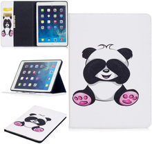 "iPad Air Cover - ""Sweet Panda"" Cover m. Ståfunktion & Kortholder - Hvid"