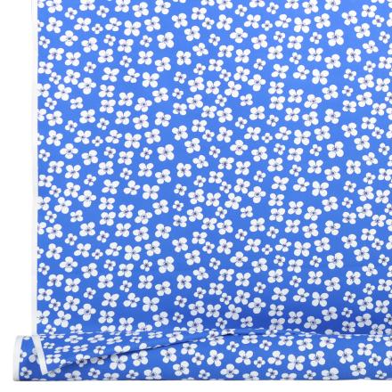 Belle Amie stoff blått blå/hvit