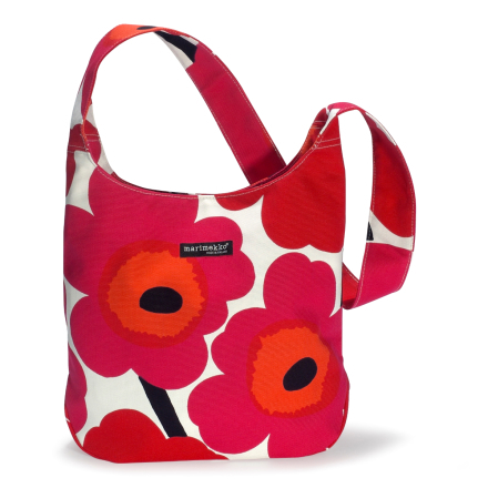 Clover laukku punainen-valkoinen