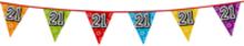 Holografische vlaggenlijn 8 m met het cijfer 21