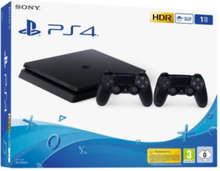 PlayStation 4 Slim Black - 1TB (2 x Dualshock)