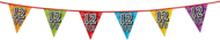 Holografische vlaggenlijn 8 m met het cijfer 12 1/2