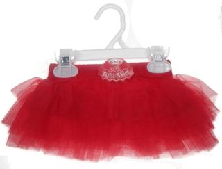 Tutu kjol tomte röd