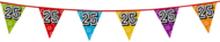 Holografische vlaggenlijn 8 m met het cijfer 25