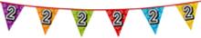 Holografische vlaggenlijn 8 m met het cijfer 2