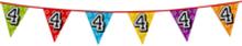Holografische vlaggenlijn 8 m met het cijfer 4