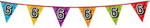 Holografische vlaggenlijn 8 m met het cijfer 6
