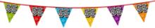 Holografische vlaggenlijn 8 m met het cijfer 55